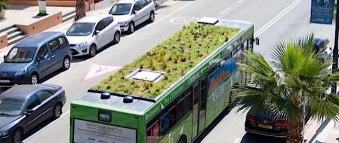 Mobilne zielone dachy na autobusach