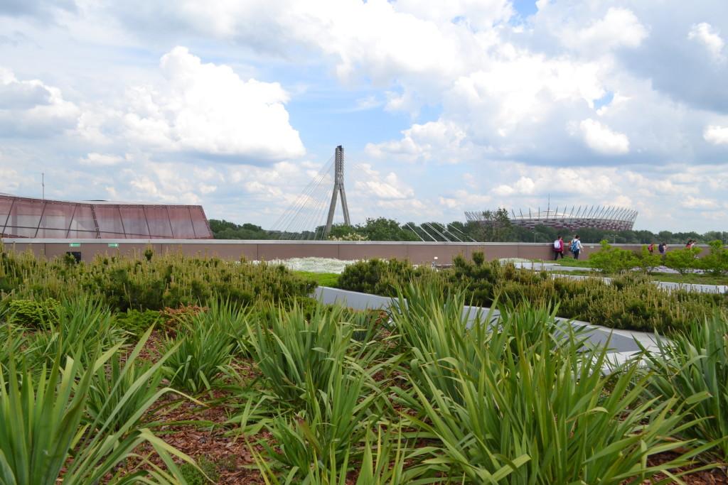 Centrum Nauki Kopernik dach zielony