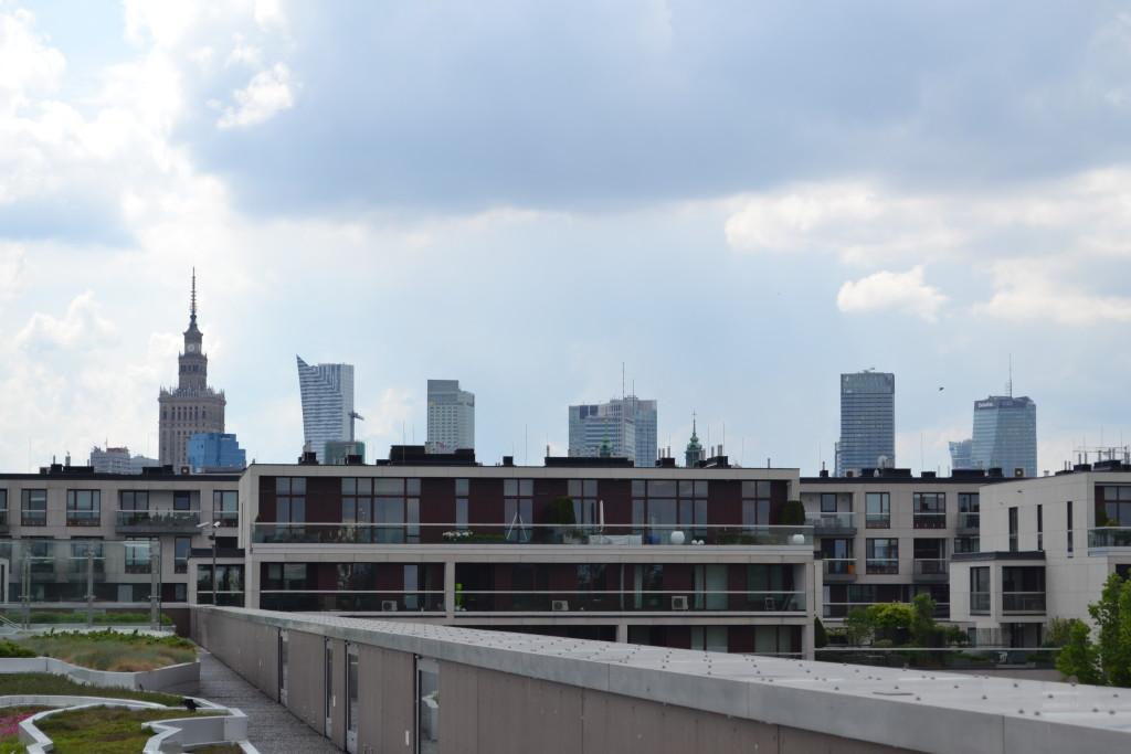 Centrum Nauki Kopernik widok z dachu