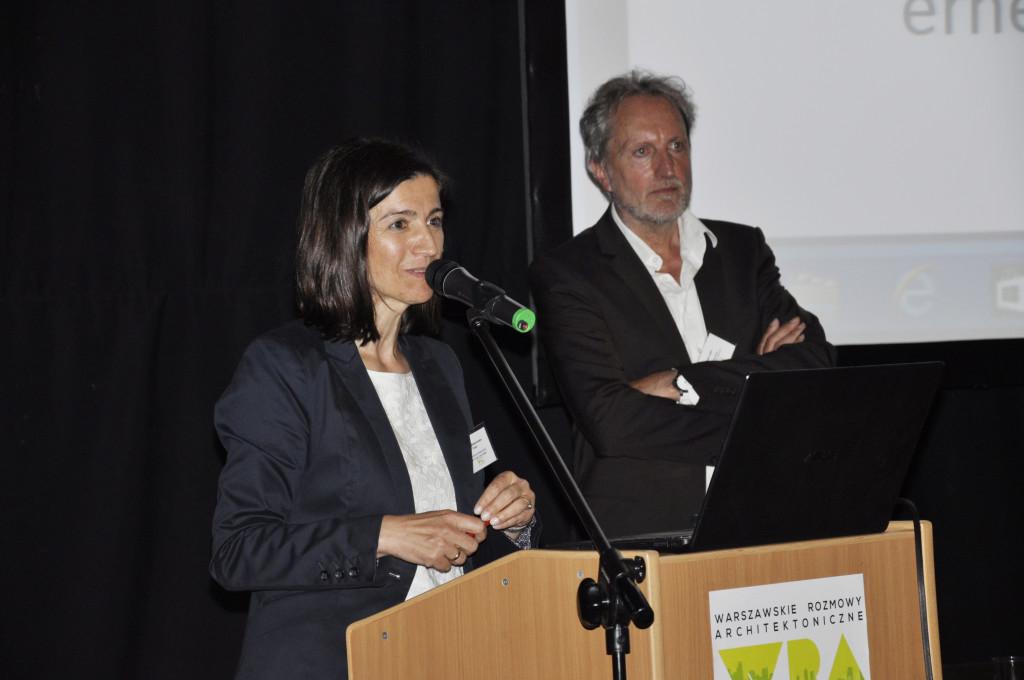 Prowadząca konferencję arch. kraj. Iza Małachowska-Coqui, Berlin/Warszawa, kurator projektu Zielone Miasto