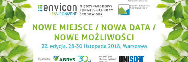 Międzynarodowy Kongres Ochrony Środowiska ENVICON Environment większy niż kiedykolwiek