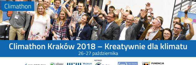 Climathon Kraków 2018 po raz 3. w Krakowie!