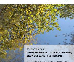 15. Konferencja Wody Opadowe – aspekty prawne, ekonomiczne i techniczne 6-7.10. online
