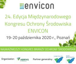 24. Międzynarodowy Kongres ENVICON  19-20 października w Poznaniu